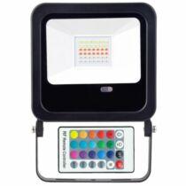 Színes LED reflektor RGB 50W 400-3000 lumen távirányítós