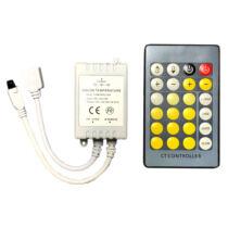 Hideg-meleg LED szalag vezérlő 72W infrás távírányítóval
