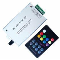 RGB LED szalag vezérlő 144W rádiós zenével vezérelhető 18 gombos