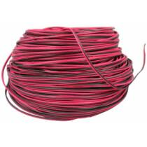 LED szalag vezeték 2 eres piros-fekete 2*0,20 mm2