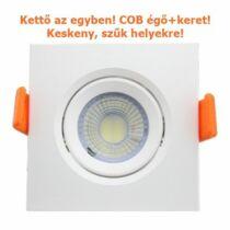 Melegfehér-2700K 5W=50W 500 lumen Keretes kör COB LED spot égő