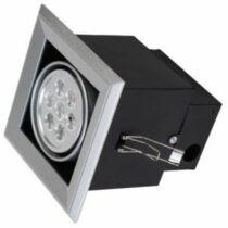 Szögletes LED mélysugárzó melegfehér 7W 630 lumen