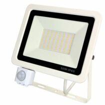 Mozgásérzékelős LED reflektor melegfehér 50W 4700 lumen