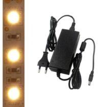5m beltéri melegfehér LED szalag + tápegység szettben!