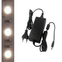 5m beltéri középfehér LED szalag + tápegység szettben!