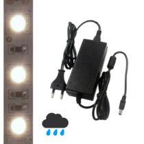 5m kültéri középfehér LED szalag + tápegység szettben!