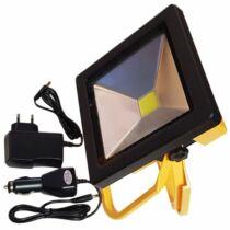 LED reflektor akkumulátoros hidegfehér 20W 700 lumen