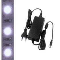 5m beltéri hidegfehér LED szalag + tápegység szettben!
