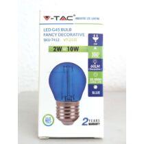 Kis körte E27 LED izzó kék 2W 60 lumen