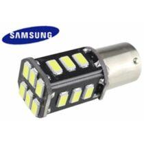BA15S Canbus helyzetjelző/index/tolató 18 LED 5730 chip sárga 2,5 W 200 lumen autós LED