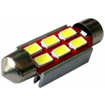 SOFITA 39mm 6 LED 5730 chip Canbus hidegfehér 2 W 150 lumen autós LED