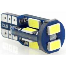 T10 Canbus helyzetjelző/index 10 LED sárga 2,3 W 230 lumen autós LED