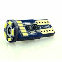 Autós led T10 Canbus helyzetjelző, index világítás, Samsung chip, 15 led, 60 Lumen, 1W, sárga