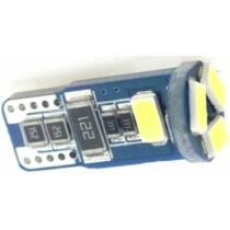 Autós led T10 CANBUS helyzetjelző, index világítás, Samsung chip, 5 led, 70 Lumen, 1,5W, sárga