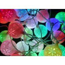 Karácsonyi hólabda beltéri füzér 40 db hólabda színes RGB LED