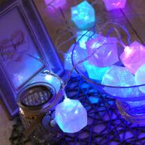 Karácsonyi ajándékdoboz kül- és beltéri füzér 30 db színes RGB LED