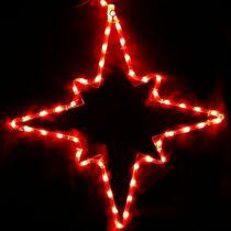 Karácsonyi figura csillag figura  50x45 cm 48 db piros LED