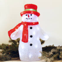 Karácsonyi figura hóember 36x23x40 cm 48 db hideg fehér LED