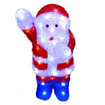 Karácsonyi télapó figura IP44, kültérre is! 36x23x40 cm, 48 db hideg fehér leddel, kék lábbal