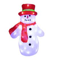 Karácsonyi figura, hóember figura IP44, kültérre is! 36x23x40 cm, 48 db hideg fehér leddel