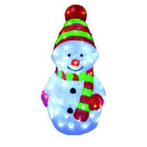 Karácsonyi figura, hóember figura IP44, kültérre is! 27x29x58 cm, 96 db hideg fehér leddel