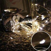 Karácsonyi mikro- LEDes Nano fényfüzér, IP44, kültérre is! 300 db meleg fehér LED