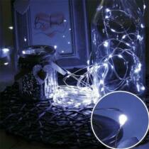 Karácsonyi mikro- LEDes Nano fényfüzér, IP44, kültérre is! 300 db hideg fehér LED