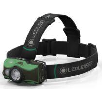 LedLenser MH8 outdoor tölthető LED fejlámpa 600lm/200m, RGB, 1xLi-ion, zöld