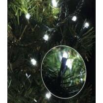 Karácsonyi LED fényfüzér, rizsszem, IP44, kültérre is! 100 db hideg fehér LED