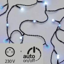 Karácsonyi LED fényfüzér, IP44, kültérre is! 40 db kis golyó kék-fehér