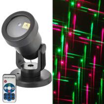 Karácsonyi lézer projector vonalak piros, zöld, programozható
