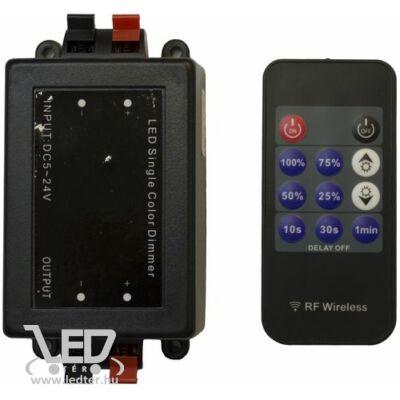 8A 96W + 11 gombos rádiós távirányítós LED szalag dimmer