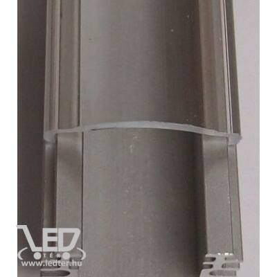 Alusín szett IP65 vízálló átlátszó takaróval 8-10 mm-es LED szalaghoz 1m sín+1 m átlátszó takaró+ 2 db rögzítő+ 2 db végzáró.