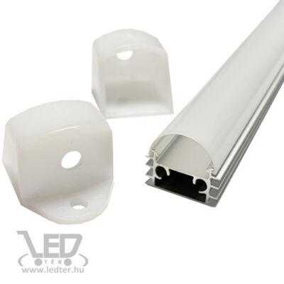 Alusín szett IP44 vízálló, tejes fedővel, bármilyen led szalaghoz! 2m sín+ tejes takaró+ 4 db rögzítő+ 2 db végzáró.