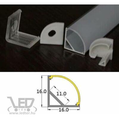 Alusín sarok szett 2M sín 2M tejes takaró+2 db vég+ 4 db rögzítő 45° vékony profil