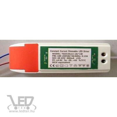 Fényerőszabályozható driver 13W-18W 300mA 40-65V LED panelhez