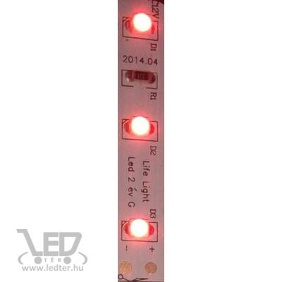 Piros 60 LED/m 2835 chip 4,8W 70 lumen/m LED szalag