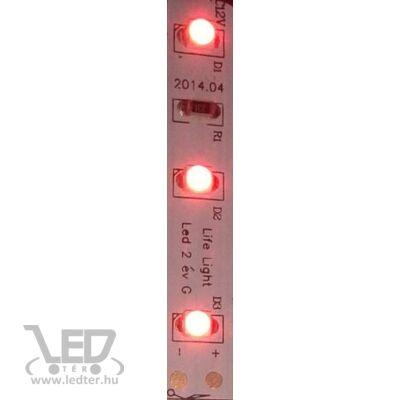 Piros 60 LED/m 3528 chip 4,8W 50 lumen/m LED szalag