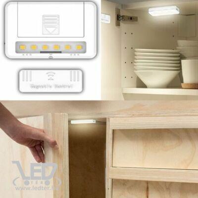 Mágneses szekrényvilágítás, 0,8W, 60 lumen, 2db AAA elem /nem tartozék!/, egy csomagban 2 db van