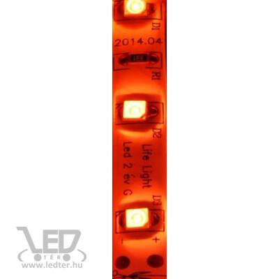 Piros 60 LED/m 2835 chip 4,8W 70 lumen/m vízálló LED szalag