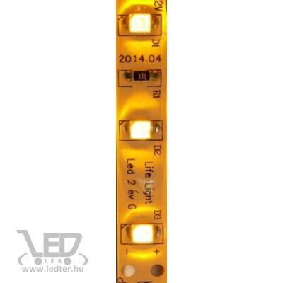 Sárga 60 LED/m 2835 chip 4,8W 44 lumen/m vízálló LED szalag