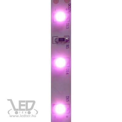 Pink 60 LED/m 3528 chip 4,8W 120 lumen/m vízálló LED szalag
