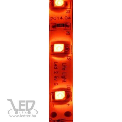 Piros 60 LED/m 3528 chip 4,8W 120 lumen/m vízálló LED szalag