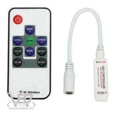 Mini rádiós 10 gomb 12A 72W 3 csatorna LED szalag vezerlő