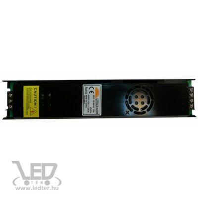 250W 12VDC LED fémházas tápegység 20,8A keskeny kivitel ventilátoros