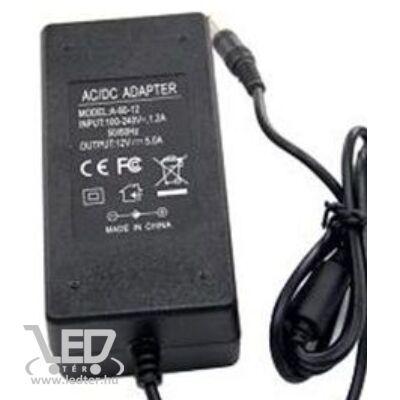 60W 12VDC LED műanyagházas tápegység 5A