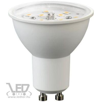 Melegfehér-2700K 5W=40W 460 lumen GU10 átlátszó burás LED izzó