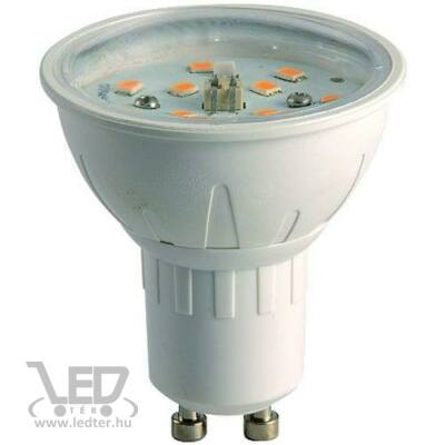 Melegfehér-2700K 6W=50W 600 lumen Dimmelhető GU10 LED izzó