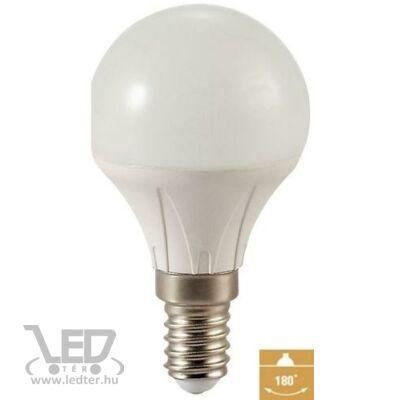 Melegfehér-2700K 5W=50W 500 lumen Kisgömb E14 LED izzó