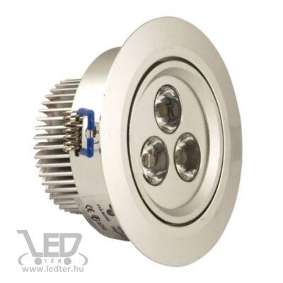 Melegfehér-2700K 3x1W 270 lumen 45° LED kör mélysugárzó